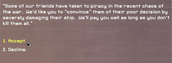 FTL decisions mercenary decisions