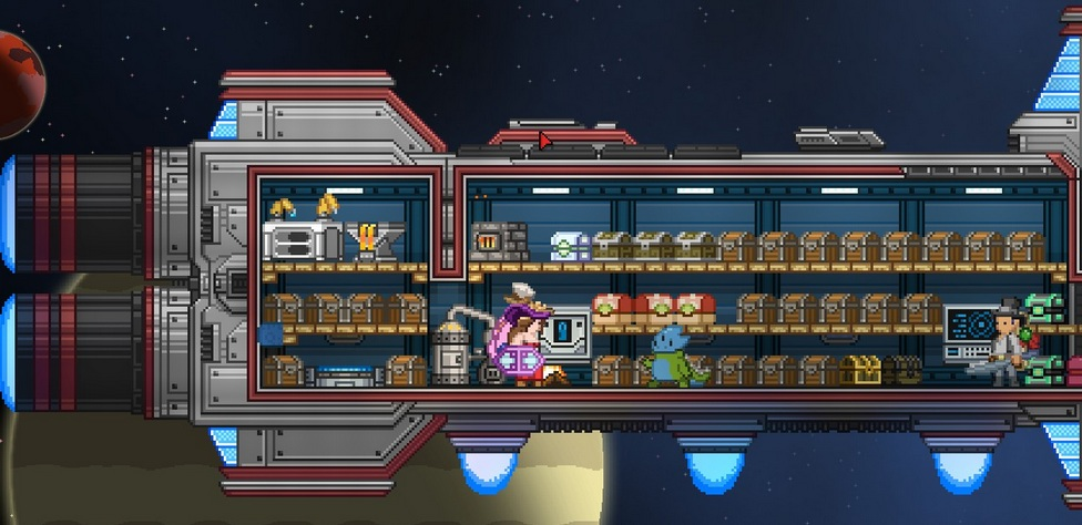 being a hoarder in Starbound