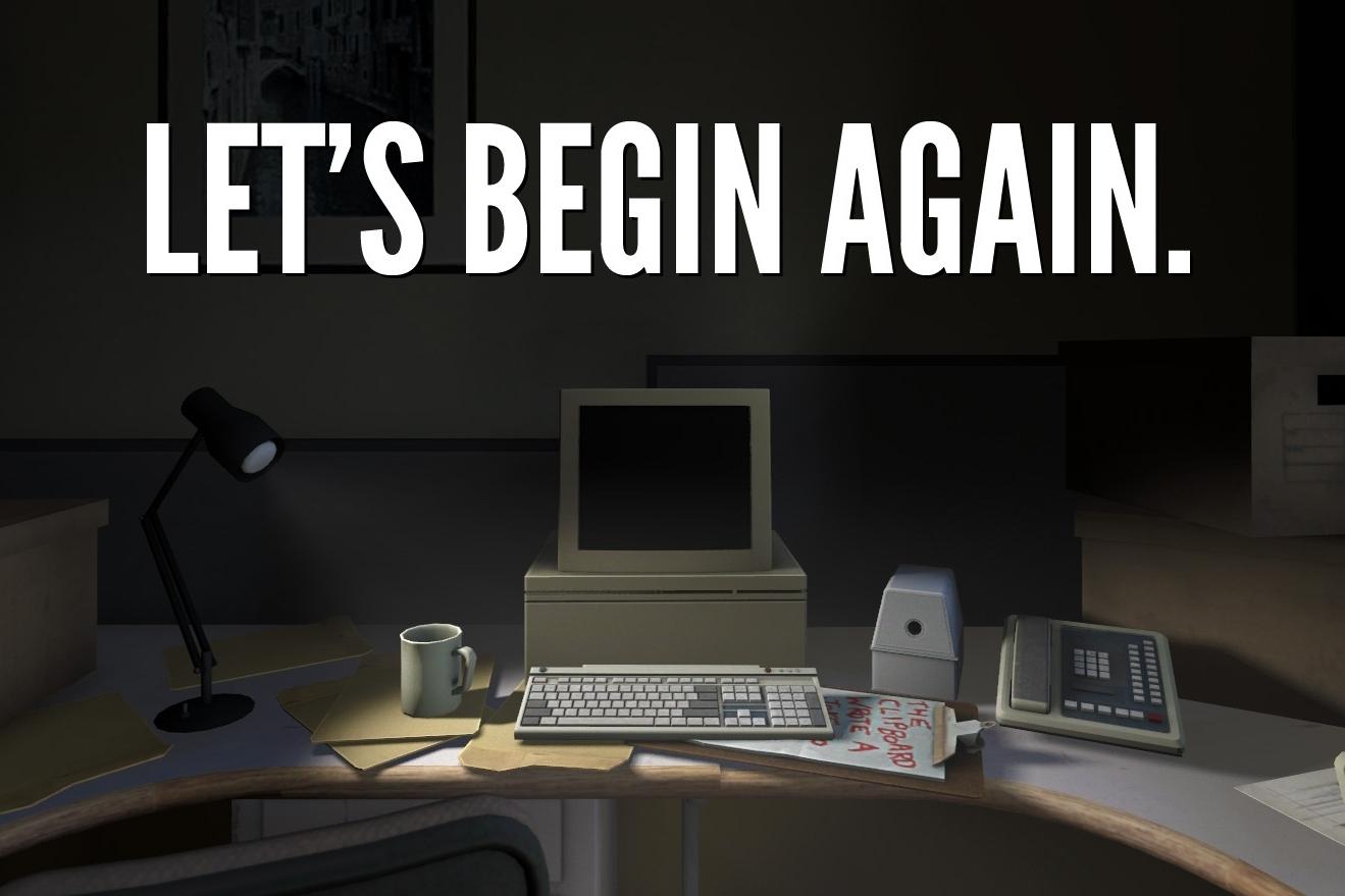 let's begin again