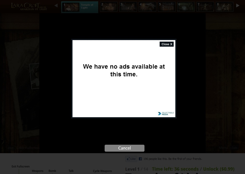 no ads available