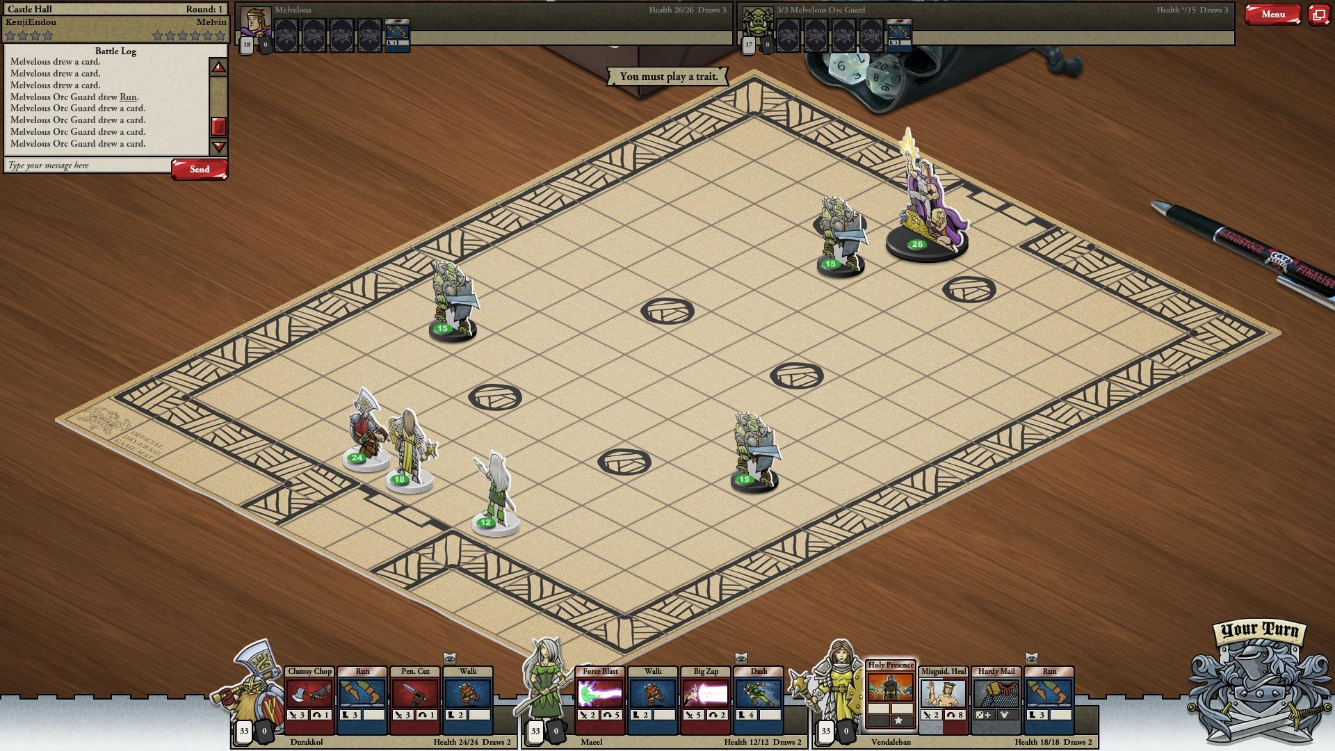 screenshot cardhunter